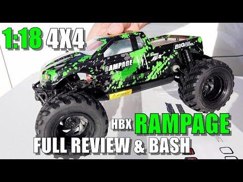 HBX 18859E RAMPAGE 1:18 Scale 4x4 Mini Monster Review - [UnBox, Drive/CRASH/Bash Test, Pros & Cons] - UCVQWy-DTLpRqnuA17WZkjRQ