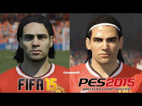 FIFA 15 vs PES 2015 MANCHESTER UNITED Face Comparison - default