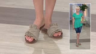 Think! Leather Slide Sandal - Shik on QVC