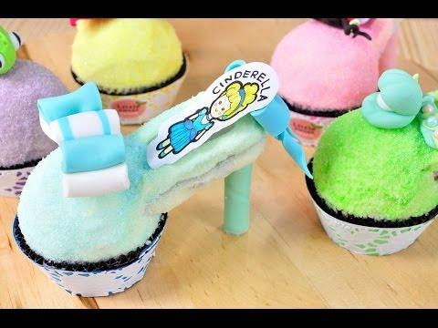 คัพเค้กรองเท้าแก้ว | Princess Shoes Cupcake l FoodTravel - UCZiboBUA0U1tn31MyHoMYLQ