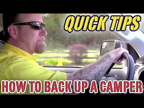 How to Back Up a Camper  | Pete's RV Quick Tips (CC) - UCTNG7AfrL5X2TfjZP3TdKeA
