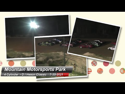 Mountain Motorsports Park - 4 Cylinder Feature - 7/30/2021 - dirt track racing video image