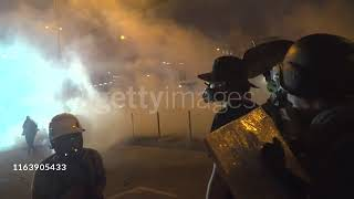 Street Level View Of Violent Clashes In Hong Kong(27 July 2019)