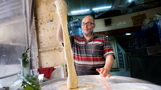 Street Food Lebanon - MELTED CHEESE WATERFALL + Ultimate Food Tour in Tripoli!