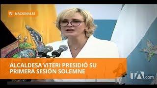Alcaldesa Cynthia Viteri presidió su primera sesión solemne -Teleamazonas