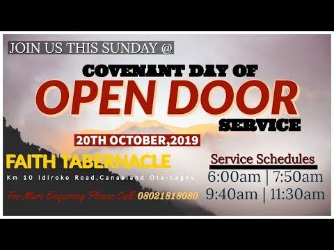 DOMI STREAM: COVENANT DAY OF OPEN DOOR  20, OCTOBER  2019