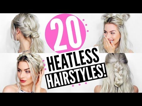20 HEATLESS HAIRSTYLES - EASY & SIMPLE! | LYSSRYANN - UCFqs6idNxxO-exYl6nGk3yQ