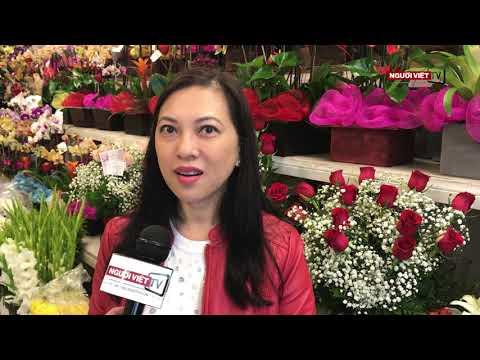 Hoa và quà cho Valentines ở Little Saigon