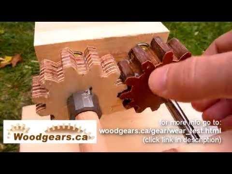 Wooden gear wear test - UCckETVOT59aYw80B36aP9vw