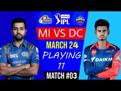 #MI VS #DC 3rd match Playing 11 |#indiacrickettv |#IPL_2019