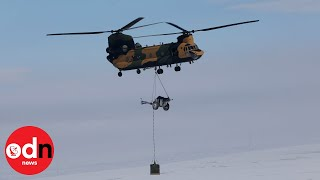 Chinooks deployed after flooding in Lincolnshire