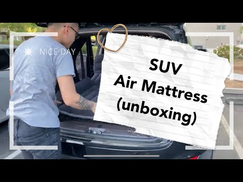 SUV Air Mattress Inflatable For Car Review Open Box, Camping Travel & Trips 2020