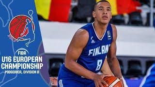 LIVE - Ireland v Finland - FIBA U16 European Championship Division B 2019