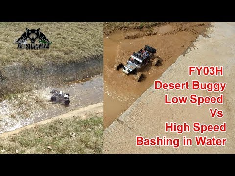 Feiyue FY03H 4WD RC Off Road Buggy Low Speed Vs High Speed Water Play - UCsFctXdFnbeoKpLefdEloEQ