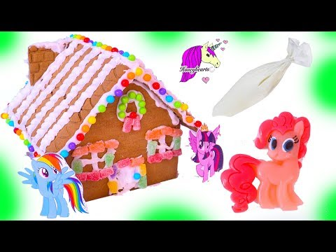 My Little Pony Rainbow Candy Gingerbread Christmas Cookie House Craft Video - UCIX3yM9t4sCewZS9XsqJb9Q
