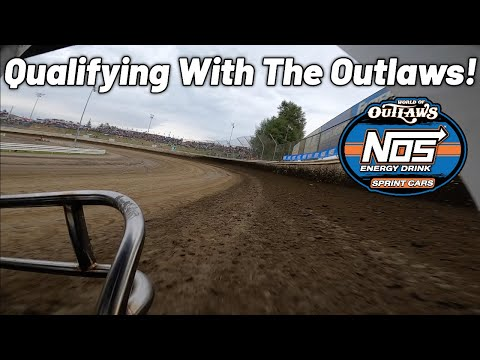 Tanner Holmes Front Bumper Cam At Skagit Speedway! (World of Outlaws Qualifying) - dirt track racing video image