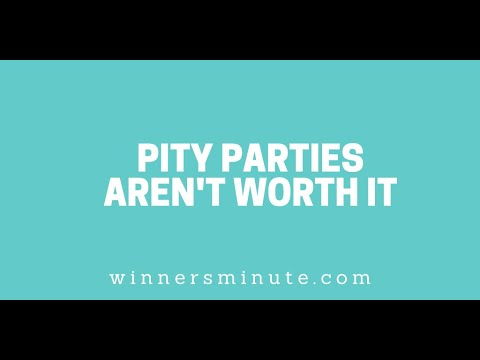 Pity Parties Arent Worth It // The Winner's Minute With Mac Hammond
