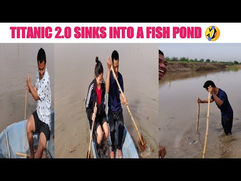 SINKING OF TITANIC 2.0 INTO A FISH POND || FUNNY VIDEO||
