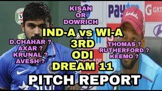 IND A vs WI A 3RD ODI Dream11 Prediction, WI A vs IND A 3RD ODI Dream 11, Pitch Report, Team News