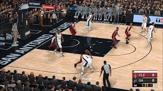 NBA 2K19 - San Antonio Spurs vs Cleveland Cavaliers - Gameplay (PC HD) [1080p60FPS]