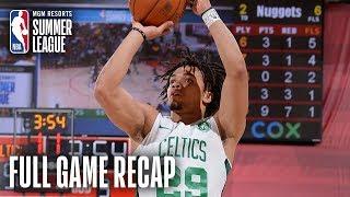NUGGETS vs CELTICS | Carsen Edwards Shines Again For Boston | MGM Resorts NBA Summer League
