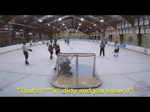 Goalie Gab | Winter Season Game 3 | PLAYING DIRTY | Mic'd Up GoPro Hockey Goalie