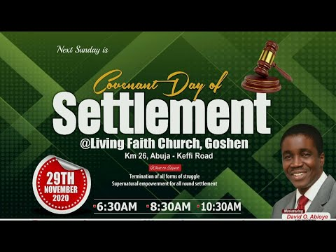 COVENANT DAY OF SETTLEMENT  1ST SERVICE  NOVEMBER 29, 2020