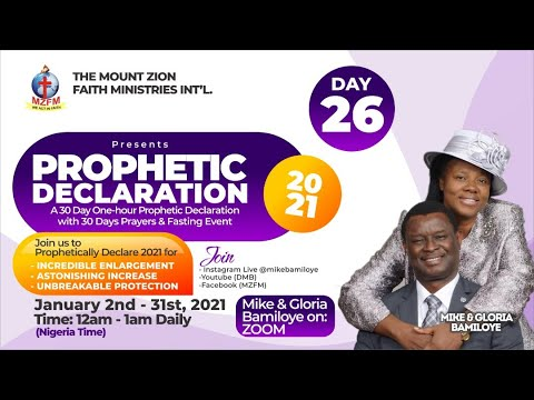 DAY 26  2021 DRAMA MINISTERS PRAYER & FASTING - UNIVERSAL TONGUES OF FIRE (PROPHETIC DECLARATION)