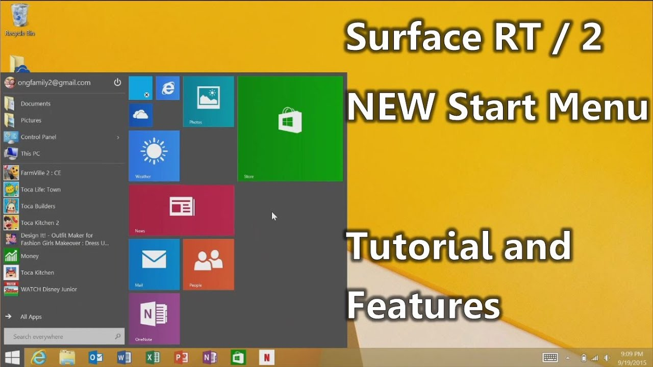 NEW Start Menu for Surface RT and Surface 2 : The