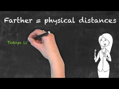 Further vs Farther - English Grammar - Teaching Tips