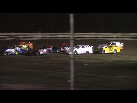 Hummingbird Speedway (7-10-21): Super 6 Late Model Feature - dirt track racing video image