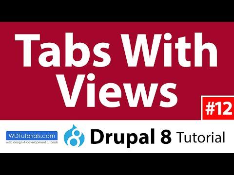 Tabs With Views (Drupal 8 Tutorial #12)