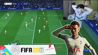 REACCIONANDO al PRIMER GAMEPLAY de FIFA 20!!😱 (NUEVOS REGATES, SKILLS, CELEBRACIONES, DEFENSA)