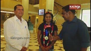 BJD MP Dr.Achyuta Samanta welcomes Dutee Chand at Delhi airport | Kalinga TV