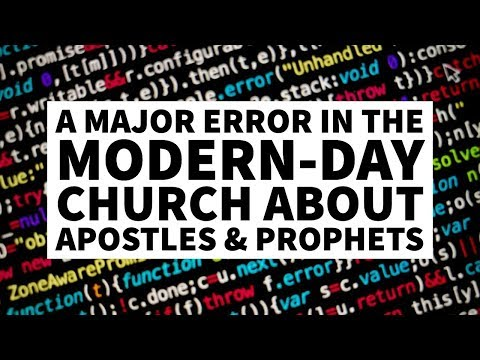 A Major Error in the Modern Church About Apostles and Pastors
