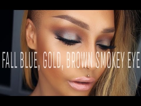 FALL INSPIRED BLUE GOLD & BROWN SMOKEY EYE - SONJDRADELUXE - UCsGaCNos3uvLNY-Jyx2uTsQ