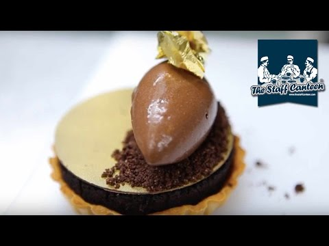 "Michelin star pastry chef Luke Butcher creates ""millionaires"" chocolate tart"
