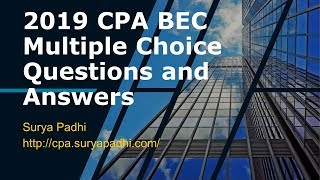 2019 CPA BEC QA 12 - Area - V - Standard Costing