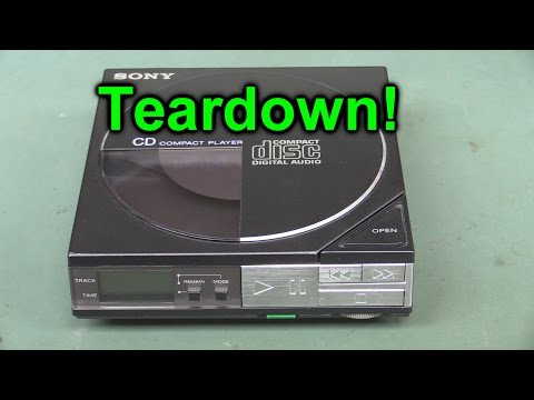 EEVblog #863 - Sony D50 Discman Teardown - World's First Portable CD Player - UC2DjFE7Xf11URZqWBigcVOQ