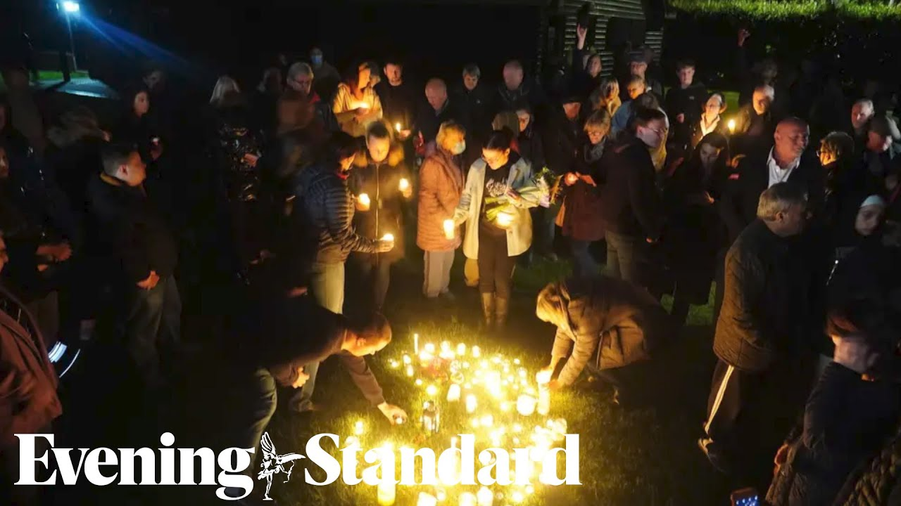 Candlelit vigil held in honour of MP Sir David Amess