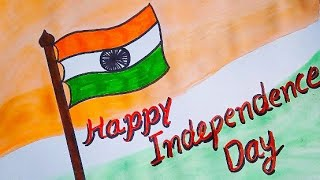 How to draw Simply Indian Flag 🇮🇳 special for Independence day / Kids art