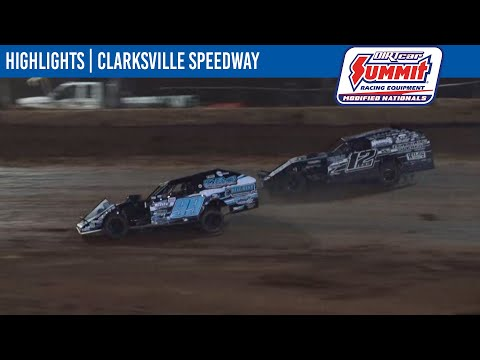 DIRTcar Summit Modifieds Clarksville Speedway July 24, 2021   HIGHLIGHTS - dirt track racing video image