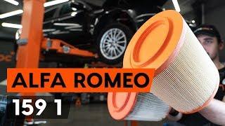Sostituzione filtro aria Alfa Romeo 159