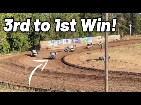 Tanner Holmes 3rd to 1st Heat Race WIN! (COTTAGE GROVE SPEEDWAY) - dirt track racing video image