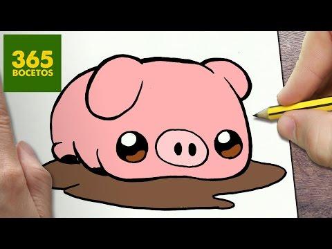 Youtube Como Dibujar Cerdo Kawaii Paso A Paso Dibujos Kawaii