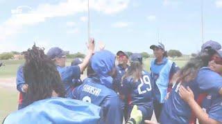 Women's Qualifier 2019 – Americas: USA v Canada, Match 2 – USA celebrate their qualification