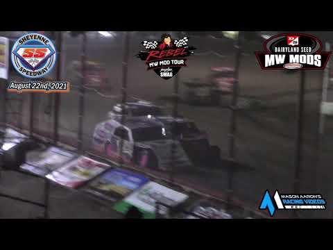 Sheyenne Speedway WISSOTA Midwest Modified A-Main (Rebel MW Mod Tour Finale) (8/22/21) - dirt track racing video image