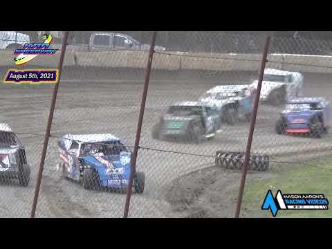 KRA Speedway WISSOTA Mod 4 B-Main (8/5/21) - dirt track racing video image