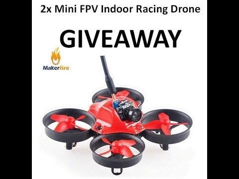 Makerfire Giveaway - Win one of 2x Makerfire Mini FPV Indoor Racing Drones with HD Camera - UCLnkWbYHfdiwJEMBBIVFVtw