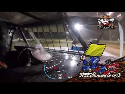 #10p Dayton Pursley - Usra B Modified - 6-25-2021 Midway speedway - In Car Camera - dirt track racing video image
